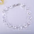 Belles bracelets de collecte de fonds rose cz bon marché