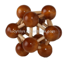 wooden space ball puzzle brain teasers