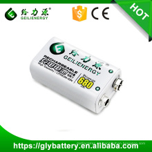 li-polymer 680mah batería de li-ion recargable 9v