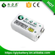 Li-polímero 680mah recarregável 9 v bateria li-ion