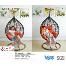 Tanfly UV-resistant rattan patio egg swing chair 1 seater.