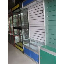 Melamine MDF Slatwall 4′*8′ Used in Supermarket