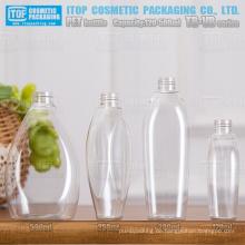 TB-VB-Serie 120ml 250ml 280ml 500ml schöne design oem Service hoher Qualität konkurrenzfähigen Preis Haustier klar Kunststoff-Flasche