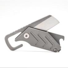 Couteau de poche utilitaire de taille mini pliable en titane minimaliste