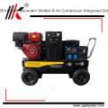 5KW générateur portable soudeur et compresseur d'air intégré ensemble essence soudeur générateur de soudage essence prix