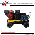 Gerador portátil do compressor de ar da máquina de soldadura da gasolina da alta qualidade com o acionador de partida elétrico de 12V