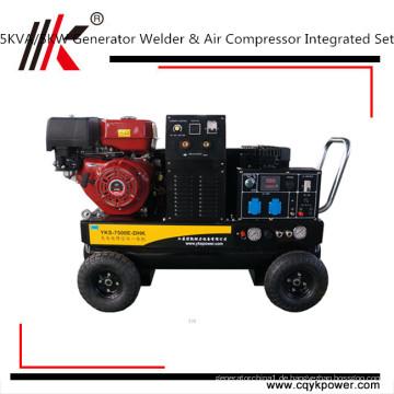 beweglicher tragbarer 5 kva Generator Dieselschweißgerät u. Generator für Verkauf
