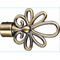 Flower Style Metal Curtain Pole Finial