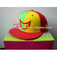2014 broderie personnalisée à la mode 5 chapeaux snapback panneau