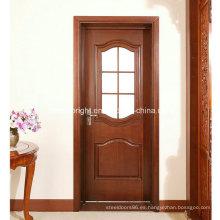 Diseño de puerta de madera tallada a mano, puerta francesa