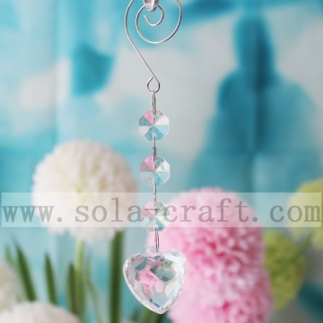 14.5CM Crystal Heart Prism Chandelier Wedding Decorative Pendant