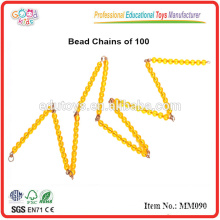 montessori material toys Bead Chains of 100