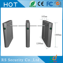Bank Fingerprint Reader Drop Arm Turnstile Door
