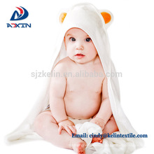 Customize panda design baby organic bamboo hooded towel