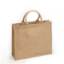 Sacola de compras de juta personalizada e elegante (hbju-137)
