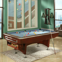 The luxury fancy game standard America black 8 pool tables with automatic ball back system