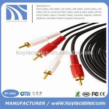 16FT 2RCA a 2RCA Cable 5m Audio Cable de video Cable