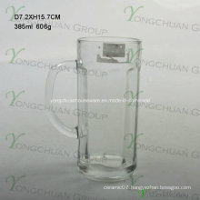 2015 Nice Glass Beer Cup with Handle 500ml