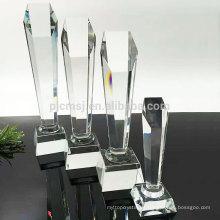 Trofeo de cristal de encargo del premio de la mejor calidad de la venta caliente