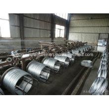 Hochwertiger heißer DIP Galvanisierter Guy Wire / Galvanisierter Stahlstrang