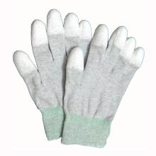 Weiß PU beschichtete Polyester / Nylon Handschuhe
