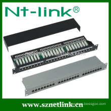 STP 24 port cat5e rj45 smart patch panel