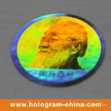 Label 3D anti-faux personnalisé de texture laser hologramme