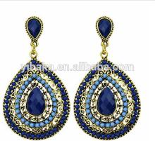 europe,american style drop earring girls charm alloy earring dark blue acrylic earring jewelry(EA80405)