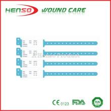 Banda de identificación de PVC para hospital desechable HENSO
