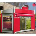 BKH-38 fashion modern outdoor kiosk for selling magazines