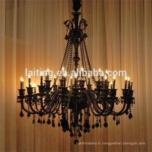 Grand lustre en cristal noir accrochant pour l'hôtel 85543