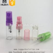 Atacado pequeno 2 ml 5 ml logotipo impresso vazio spray de vidro refil perfume personalizado frascos de spray
