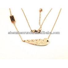 Китай оптовые высокое качество моды ожерелье с пером для женщин