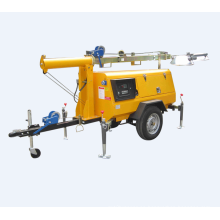 Pequeño generador diesel portátil torre de iluminación de emergencia
