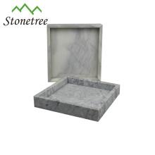 Plateau de service écologique en pierre naturelle de marbre plateau en marbre d'ardoise