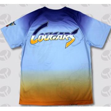 T-shirt personalizado da forma 3D da sublimação do poliéster Unbranded