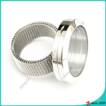 Stainless Steel Living Locket Ring for Wholesale