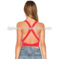El último diseño mujeres Backless moda Spandex Sexy Bodysuit