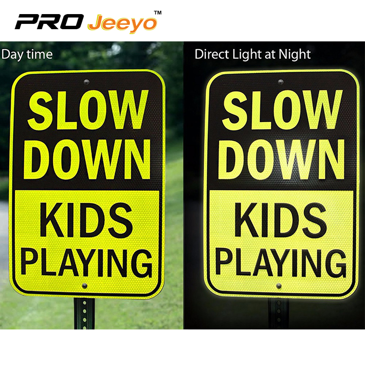 slow down sign 3