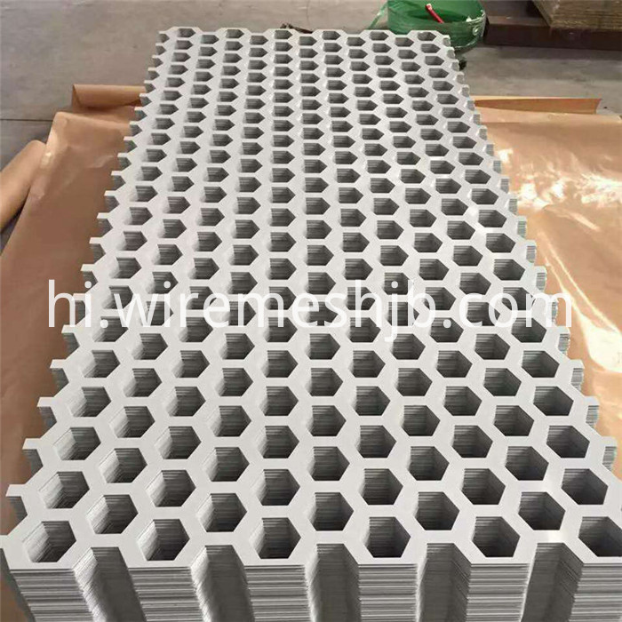 Hexagonal Perforated Metal Sheet