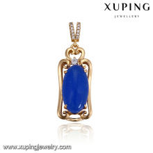 32920 venda Quente jóia da menina nobre design simples oval em forma de imitação de pedras preciosas pingente colorido