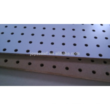 melamine mdf peg board perforated mdf wall board