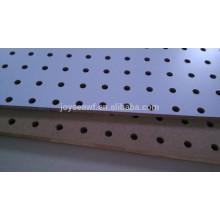 Melamine mdf peg placa perfurada mdf parede bordo