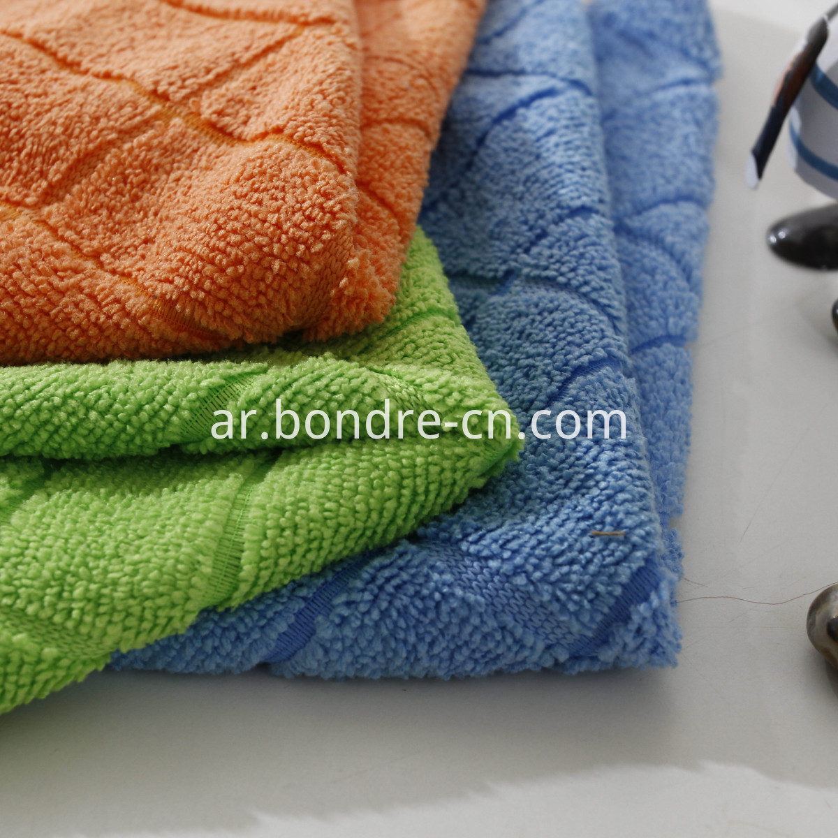 Microfiber Clean Towel With Check Design (4)