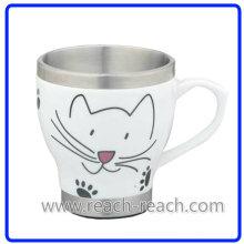 Двойная стенка керамическая чашка кофе (R-3065)