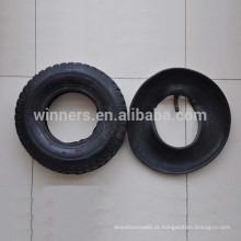 250-4 pneu de carrinho de mão de borracha / pequenas rodas e pneus