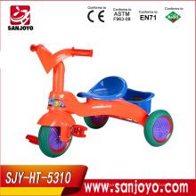 Paseo plástico del bebé superventas en los juguetes triciclo del coche para los niños paseo del bebé en el coche Bebé Trike Toys HT-5310