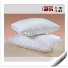 2015 Algodón 100% nuevo diseño personalizado tamaño blanco pluma y almohadas hacia abajo en venta