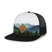 сублимационная шляпа Snapback с нашивкой из полиуретана с тисненым логотипом