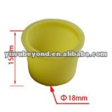 Plastic Tattoo Ink Cup Yellow Colors
